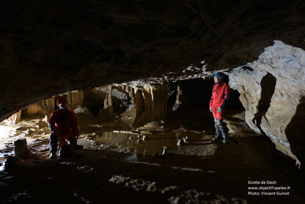 Visite de la Grotte de Siech à Saurat