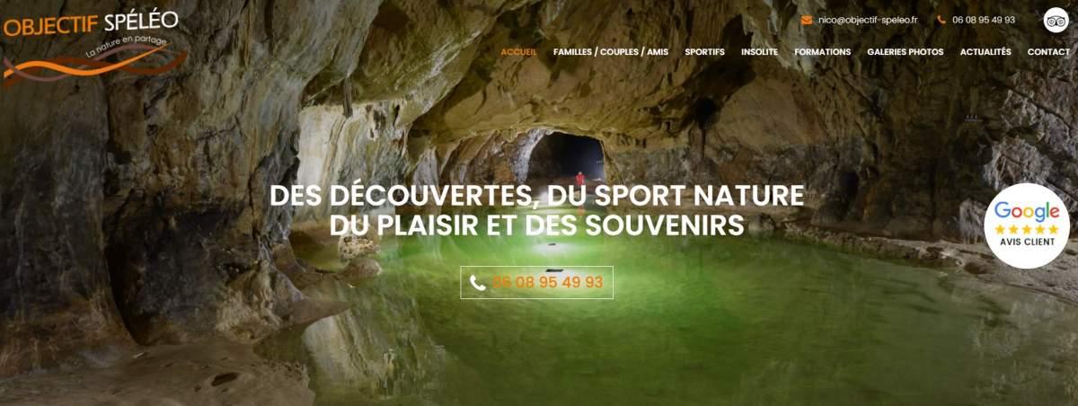 Mon nouveau site internet Objectif Spéléo est en ligne!